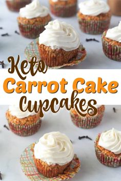 Best Ever Keto Carrot Cake Cupcakes with Cream Cheese Frosting. These moist Carrot Cake Cupcakes have just the right amount of spice and are perfect for Easter! Easy dessert recipe that everyone will enjoy. #carrotcake #cupcakes #creamcheese #creamcheesefrosting #dessertrecipes #easterdessert #easter #keto #ketodessert #ketodiet #ketorecipes