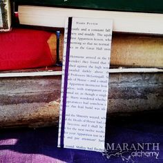 Harry Potter Book Page and Ribbon Bookmark