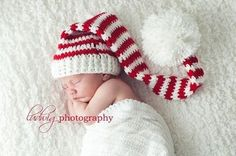 christmas newborn baby photo