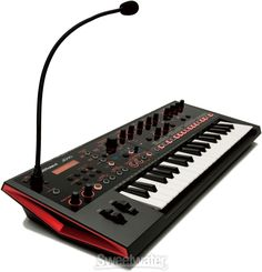 37-key Analog/Digital Crossover Synthesizer with 128-voice Polyphony, 4-track Sequencer, Gooseneck Mic, Vocoder and AutoPitch, Built-in Effects, and USB MIDI Connectivity