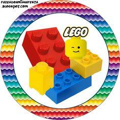 Lego – Kit Completo com molduras para convites, rótulos para guloseimas, lembrancinhas e imagens!   Fazendo a Nossa Festa