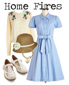 """1940s // home fires inspired"" by onceuponanovel ❤ liked on Polyvore featuring Michael Kors, women's clothing, women, female, woman, misses and juniors"