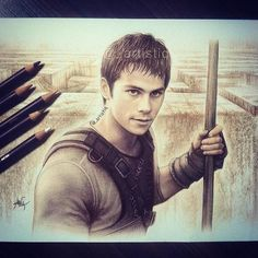 Dylan O'Brien drawing