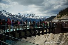 Walking on air on the Glacier Skywalk, Banff http://breathedreamgo.com/2014/08/the-rockies-icefields-parkway-alberta/