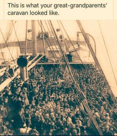 This is what your great-grandparents' caravan looked like. Theatre Of The Absurd, Protest Signs, Home Of The Brave, Social Change, Truth Hurts, Social Issues, Satire, Social Justice, American Life
