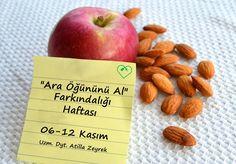 Ara öğünler zayıflatır..Badem ve elma çok iyi seçenekleriniz..