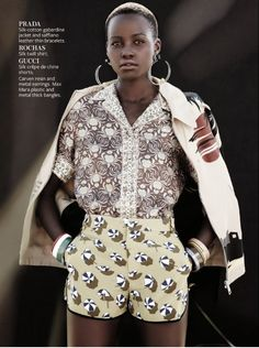Afrolistas and the City™: Le Look Du Jour: Actress Lupita Nyong'o For InStyle Magazine December 2013