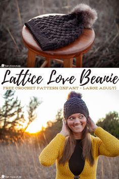 The Lattice Love set starts with a free beanie pattern in sizes ranging from infant to adult large! Let's take our crochet up a notch today, shall we?