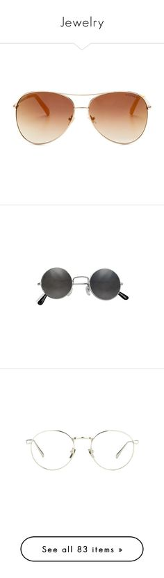 """""""Jewelry"""" by picky-picky ❤ liked on Polyvore featuring accessories, eyewear, sunglasses, glasses, jewelry, tommy hilfiger sunglasses, tommy hilfiger, aviator style sunglasses, brown gradient sunglasses and tommy hilfiger glasses"""