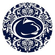 Set of Four Penn State University Pattern Drink Coasters
