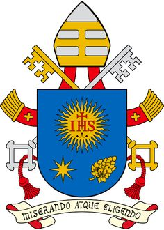 Pope Francis has decided to keep his previous coat of arms, chosen at the time of his episcopal consecration and marked by linear simplicity.
