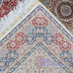 the back of hand knotted silk rug