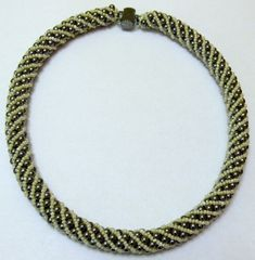 Metalic-yellow Spiral Necklace