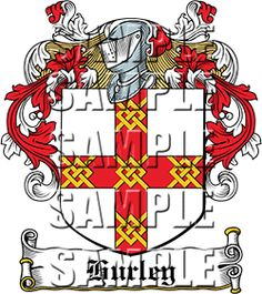 Hurley Family Crest apparel, Hurley Coat of Arms gifts