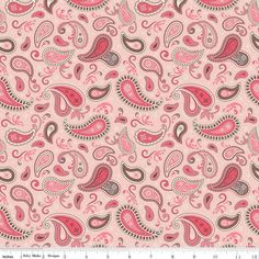 Riley Blake Rodeo Paisley Pink Fat quarter by BabesnblanksFabric
