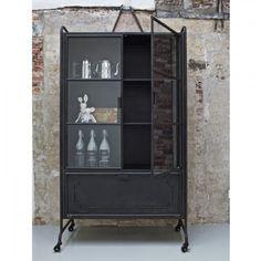 Steel storage vitrinekast BePure zwart | Musthaves verzendt gratis