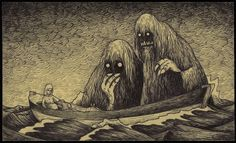 Creepy Illustrated Monsters Sketched Onto Post-It Notes By John Kenn Mortensen