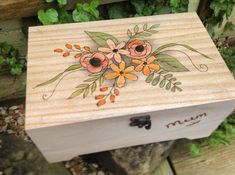 Jewellery Box Floral Sewing Box Anniversay Gift Mothers