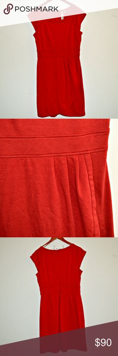 """🚨FINAL PRICE🚨Emma & Michele Red Dress Red sheath dress by Emma & Michele. Has cap sleeves and some pleating on the hip. Back zipper closure. In excellent condition!  