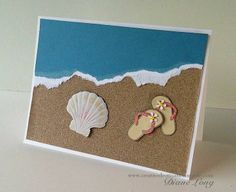 Beach Flip Flop Card -