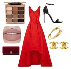 """""""Red carpet 💋"""" by nariviahoyos on Polyvore featuring Tom Ford, Chanel, Stila, Louise et Cie and Oscar de la Renta"""