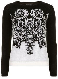 Black baroque jumper