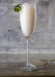 """At Manhattan's Lievito Pizzeria, they call this cloudy, coconuty version of a bellini by the Italian term for """"whitey."""""""