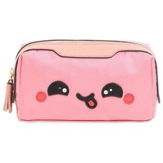Anya Hindmarch Women Kawaii Yum Nylon Cosmetic Case ($265) ❤ liked on Polyvore featuring beauty products, beauty accessories, bags & cases, bags, accessories, makeup, purses, beauty, light pink and make up bag