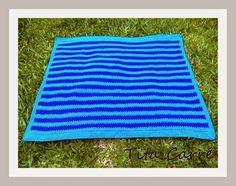 Tita Carré  Agulha e Tricot : Colcha em crochet azul do céu azul com Djavan