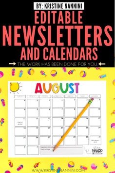 Newsletter Template Editable - Calendar - Parent Communication - Make family communication simple and easy with this stress-free download. Help your 1st, 2nd, 3rd, 4th, 5th, & 6th grade guardians know what is going on in the classroom with editable weekly or monthly newsletter options, various clipart designs, monthly calendars, & more. Click through to learn about the header options, designs, & more. Great for your Year 2, 3, 4, 5, or 6 kids. #ParentCommunication #ParentsAndGuardians Classroom Calendar, Classroom Bulletin Boards, 5th Grade Classroom, Middle School Classroom, Classroom Procedures, Classroom Management, School Newsletter Template, Family Communication, Song Words