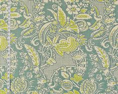 Clarence House fabric mid-century Asian garden grey linen Rosina