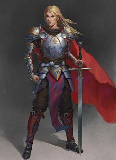 ArtStation - A man, Un chat noir Fantasy Character Design, Character Concept, Character Art, Concept Art, Fantasy Male, Fantasy Armor, High Fantasy, Medium Armor, Manga Boy
