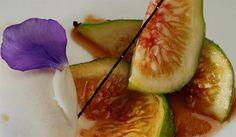 decadence: Roast figs with chestnut ice cream and a vanilla cream recipe  (Higos asados con helado de castañas y cremoso de vainilla)