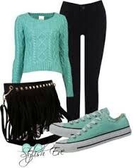 Converse & black leggings