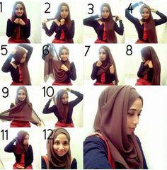 Stylish Hijab -Picture Tutorial