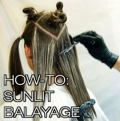 New balayage technique