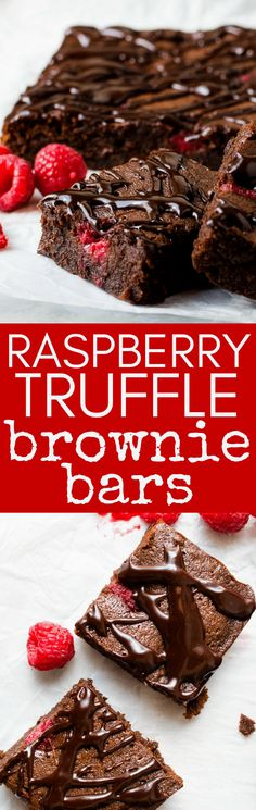 Ultimate Raspberry Truffle Brownies