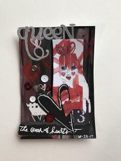 a queen of hearts one-staple collage by Avery Kasper, c. 2017 Queen Of Hearts, Collage, Cover, Inspiration, Biblical Inspiration, Collages, Collage Art, Inspirational, Inhalation