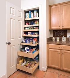 The well-organized pantry: for some, a far-off dream to hold dear while battling against mess. (For others, it's a far-off dream to even have a pantry.) It's a new year, so whatever space you have to work with in the kitchen, get it in gear. From walk-in wonders to slim spaces, feast your eyes on these clever pantries for some organizing inspiration.