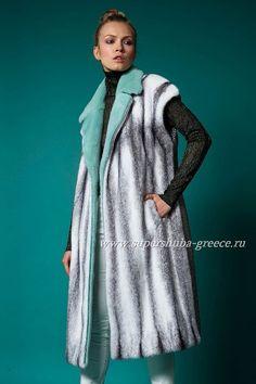 Fur coat..wow that mint colour!