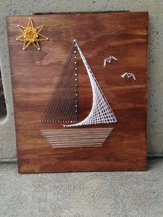 String art-sailboat