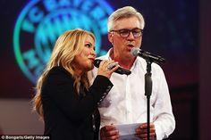 Carlo Ancelotti celebrates by singing with Anastacia