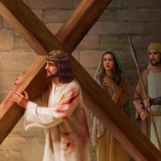 """The Lord Jesus was nailed to the cross as mankind's sin offering to save us from sin. What is the profound meaning behind the appellation """"the Lamb of God""""? Jesus Is Risen, Jesus Our Savior, God Jesus, Bible Photos, Bible Pictures, Christian Artwork, Christian Images, Cross Pictures, Resurrection Day"""