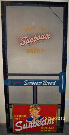 Screen Door with Bread Advertising