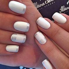 White matte nails idea