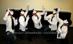 Easiest Jabbawockeez Group Costume and Routine for Non-Dancers ... This website is the Pinterest of costumes Costumes For Work, Cheap Halloween Costumes, Group Costumes, Homemade Costumes, Cat Costumes, Adult Halloween, Halloween Ideas, Costume Ideas, Theme Ideas