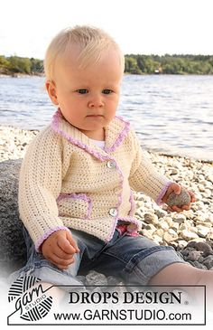 Craft Passions: jacket with pockets..# free # Crochet pattern link here