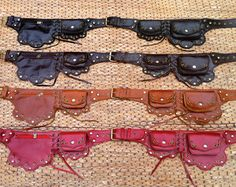 Steampunk Belt Bag | Leather Utility Belt | Burning Man | Fanny Pack | Festival Belt  - The Lotus