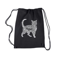 Drawstring Backpack  Cat Created out of cat themed by lapopart
