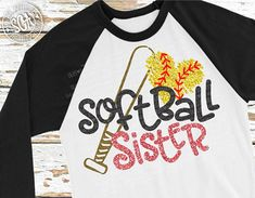 Softball sister SVG little sister svg softball svg design Softball Tshirts, Softball Party, Softball Mom, Baseball Shirts, Tee Shirts, Softball Crafts, Baseball Caps, Baseball Uniforms, Sports Uniforms